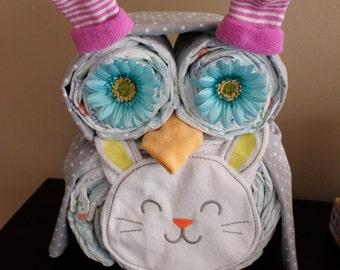 Ready to Ship- Bunny Diaper Owl