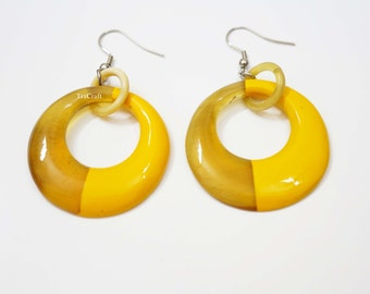 Horn & Lacquer Earrings_K7Y