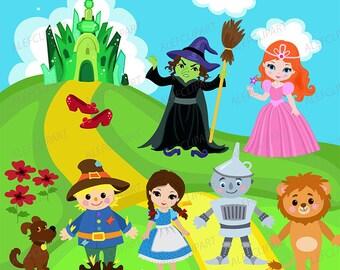 Wizard of Oz clipart commercial use, Oz, dorothy graphics, digital clip art, digital images