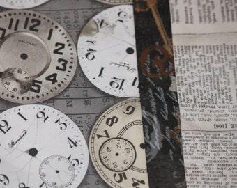 Pillowcase, Clock Faces, Watch Faces, Keys, Newspaper, Steampunk, Gift, Bedding