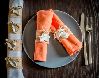 Woods napkin rings (set of 6)