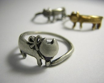 "cat silver ring "" purr """