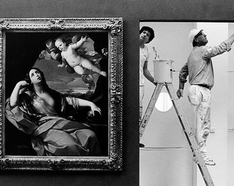 The painter in the Schirn, exhibition Guido Reni, Frankfurt / M. 1988, Fine Art Print by Mirko Krizanovic