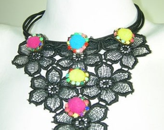 Necklace torchon, shipping free