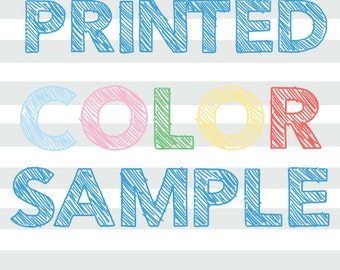 Printed Color Sample Chart