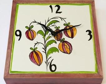 Plant wall clock Etsy