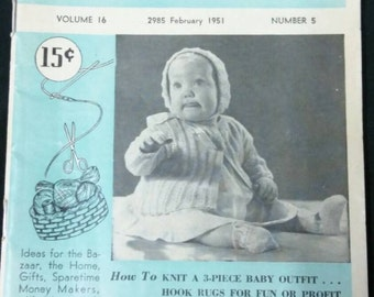 Collection of 24 Workbasket and Home Arts Magazine 1950s through 1970s