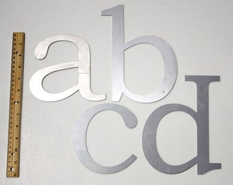 Metal Letters - Large Laser Cut  (Lowercase)