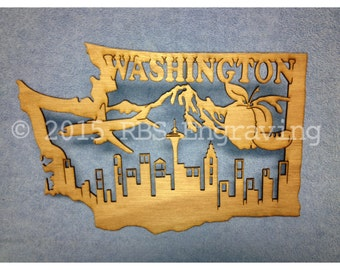 Laser Cut Wooden State Plaques
