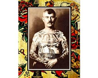 Tattoo - Male. Vintage Tattoo Art, Tattoo Card