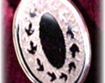 Elegant Oval Tie Tack