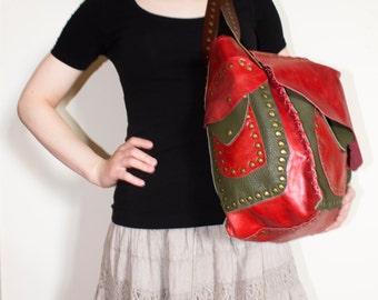 Large women's bag, genuine leather bag, beach bag, shoulder bag, hand bag