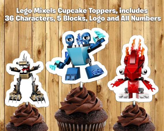 Printable Lego Mixels Cupcake Toppers -Download Print Lego Mixels Cake Toppers Lego Mixels Birthday Decoration