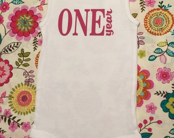 Adorable one year onesie