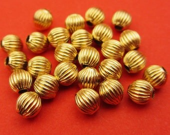 New 4mm 14k Gold Filled Corrugated Round Spacer Beads 10pcs.