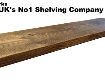 38mm Reclaimed pine chunky floating shelf / shelves