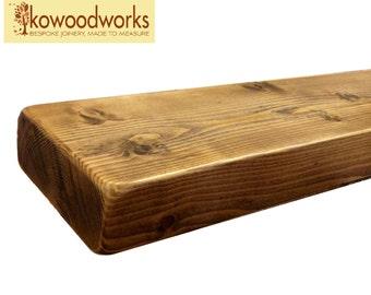 """9"""" x 3"""" wooden floating pine shelf shelves"""