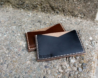 Super Minimalist Wallet - Horween Leather - Wallet - Card Holder