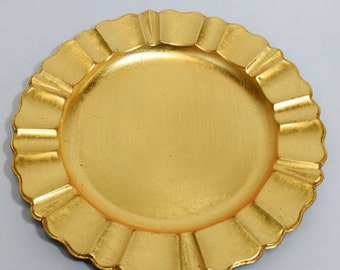 Gold Charger Plate with Fluted Edge (13 Inch) - 13CHGPLT-GD2