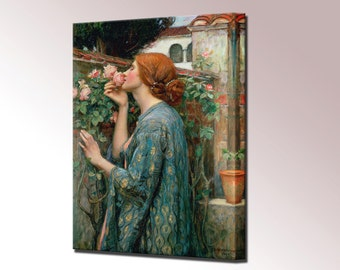 Soul of the Rose Painting Canvas Wall Art Print Waterhouse in 4 Sizes Ready To Hang