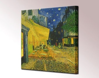 Van Gogh Cafe Terrace at Night Canvas Wall Art Print Vincent Picture Ready to Hang Decor