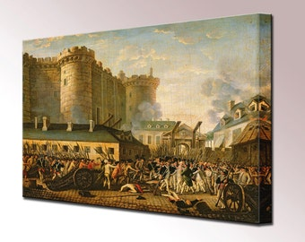 Storming of the Bastille Canvas Wall Art Print in 4 Sizes Ready To Hang