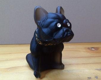 Westmoreland Black Glass French Bulldog