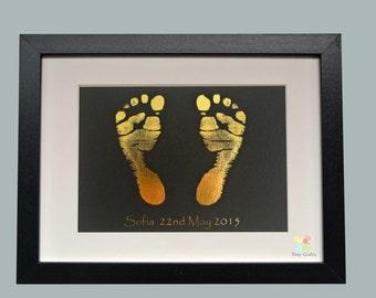 Newborn, Baby keepsake, Print Kit - MetallicPrint kit and Frame