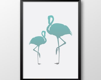 Heron print, Wetland, Printable Birds, Wall art, Tint decor 185