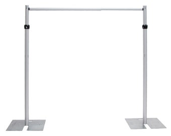 7ft x 10 ft Stainless Steel Wedding Backdrop Stand/Backdrop Pipe for Wedding Drape/Pipe And Drape For Wedding Event
