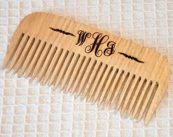 Personalized Monogram Wooden comb, Monogrammed gifts, Monogram Gift Comb, Personalized Gifts for Her, Engraved comb Pocket comb,Organic comb