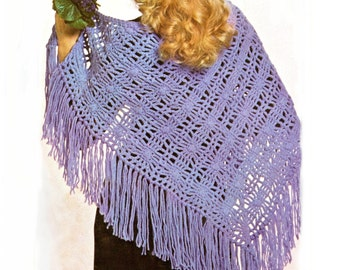 crochet, pattern, shawl, cape, wrap,women,  summer shawl, vintage crochet pattern, PDF