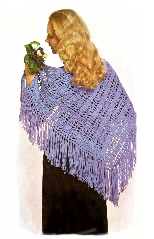 Crochet Pattern For Summer Shawl : crochet shawl pattern summer shawl vintage crochet pattern