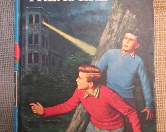 Vintage 1959 The Hardy Boys  #1 The Tower of Treasure by Franklin W. Dixon, Childrens Book, Mystery Book, Book Decor