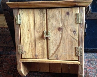 Reclaimed wooden kitchen cupboard