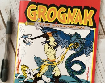 Grognak The Barbarian: In the Lair of the Virgin Eater cos play replica Comic book style sketch book