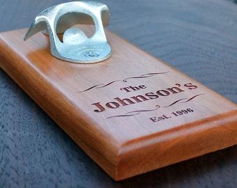 Personalized Bottle Opener, Wall Mounted, Magnetic Mounted, Groomsman Gift