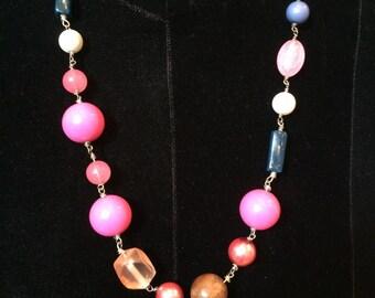 Pink Geo Necklace