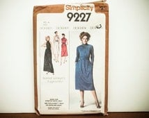 Simplicity Dress Pattern, Ladies Dress Pattern, Vintage Dress Pattern, Sewing Pattern, Simplicity 9227, Pullover Dress Pattern