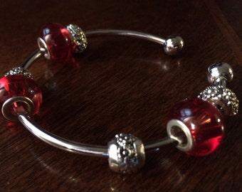 Red Charm Bracelet