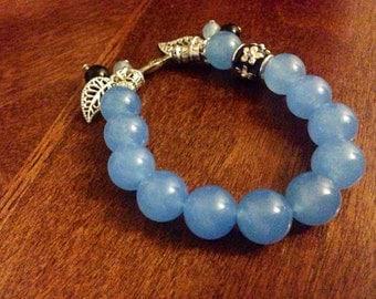 Pale Blue Beaded Bracelet