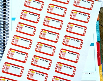 Movie Night Stickers G006