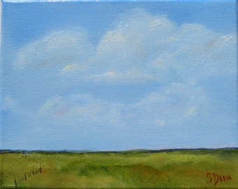 Far as the Eye Can See - Original Oil Painting 8 x 10- Landscape