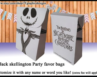 small Jack skellington party favor bags DYI
