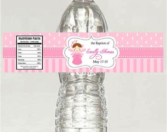 Printable Personalized Christening / Baptism Water Bottle Labels