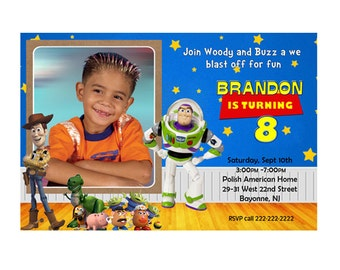 Toy Story Personalized Birthday Invitation- Printable