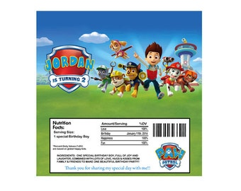 Paw Patrol Candy Bar Wrapper, Fits 1.55 oz - Printable
