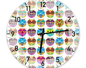 The Lots of Owls - Designer Wall Clock