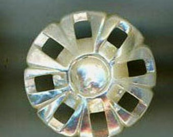 Dainty white mother of pearl button