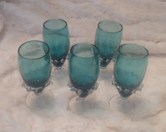 Very Rare Vintage Design Glass Cordials